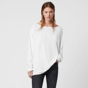 AllSaints Rita Top Oversized Long Sleeve T-Shirt